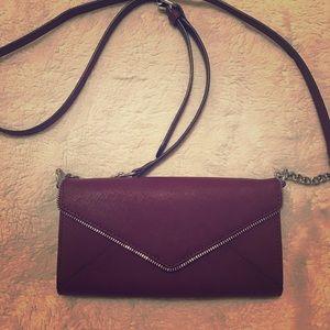 Rebecca Minkoff Maroon Leather Crossbody Bag